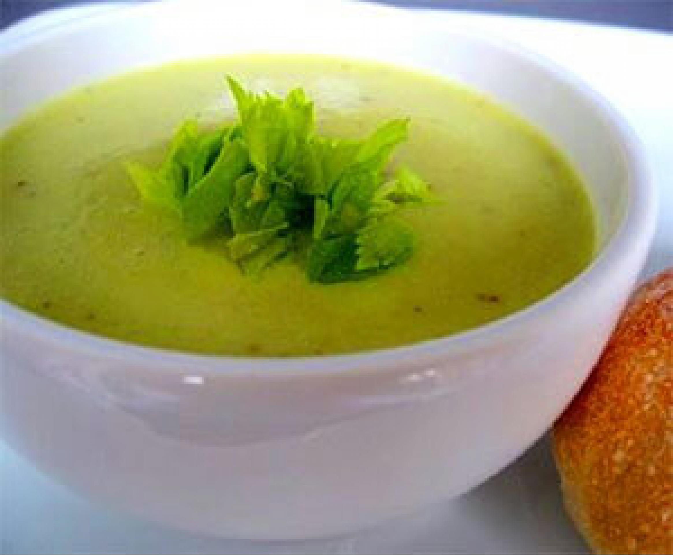 Зелёный суп с сельдереем