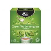 "Yogi Organic  ""Green Tea Lemongrass&quot"" (купаж зеленого чая с лемонграссом)"