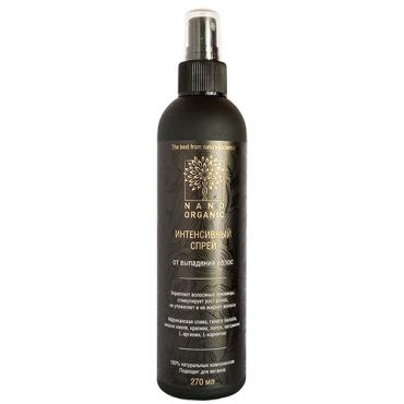 Интенсивный спрей от выпадения волос Nano Organic, 270 мл
