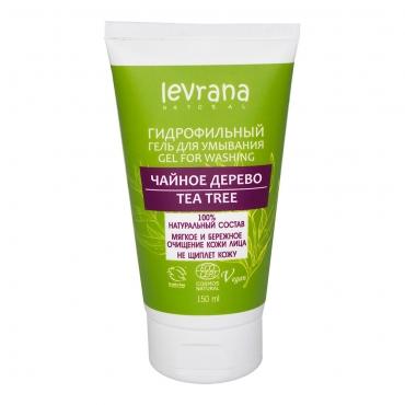 """Гидрофильный гель для умывания """"Чайное дерево"""" Levrana, 150 мл"""