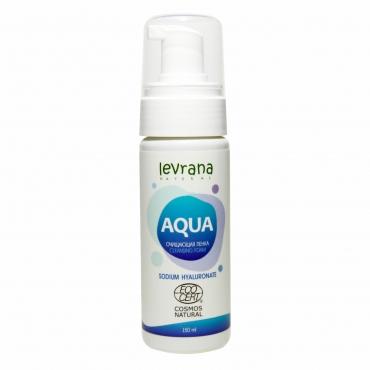 """Пенка для умывания """"AQUA"""" с гиалуроновой кислотой Levrana, 150 мл"""