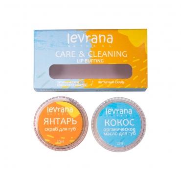 Скраб + органическое масло для губ Levrana, 10+10 гр