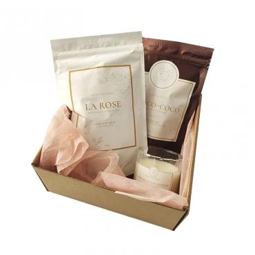 Набор подарочный (скраб для тела, соль для ванны и свеча) MAISON DES ÈTOILES