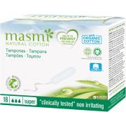 Гигиенические тампоны Super из органического хлопка MASMI, 18 шт