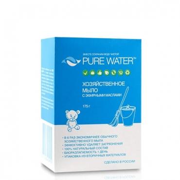 Мыло хозяйственное с эфирными маслами Pure Water, 175 гр