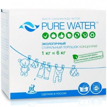 Стиральный порошок концентрат Pure water, 1000 гр