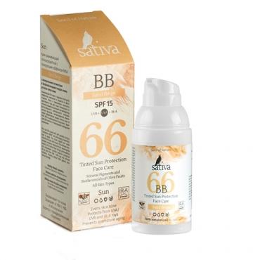 BB Крем ухаживающий SPF15 с тонирующим эффектом №66 Sand Beige Sativa, 30мл