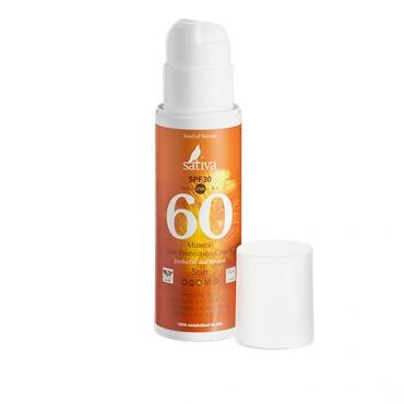 Крем минеральный SPF30 солнцезащитный №60 Sativa, 150мл