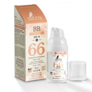 BB Крем ухаживающий SPF15 с тонирующим эффектом №66 Rose Beige Sativa, 30мл