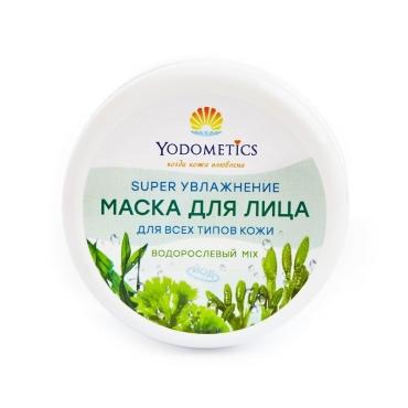 Маска для лица SUPER-УВЛАЖНЕНИЕ «Водорослевый микс» Yodometics, 75 мл