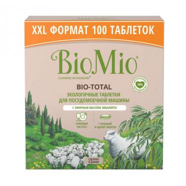 Экологичные таблетки для посудомоечной машины 7-в-1 с эфирным маслом эвкалипта BioMio, 100 шт