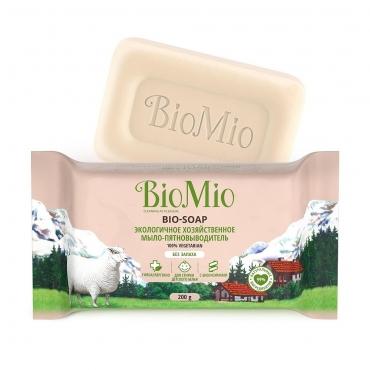 Экологичное хозяйственное мыло-пятновыводитель без запаха BioMio, 200 гр
