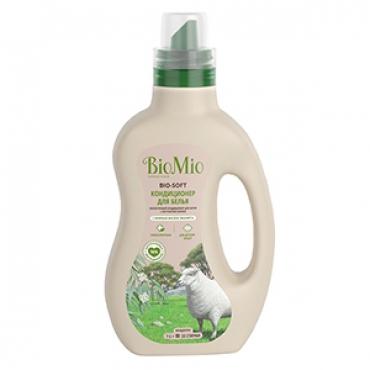 Экологичный кондиционер для белья с эфирным маслом эвкалипта и экстрактом хлопка BioMio, 1000 мл