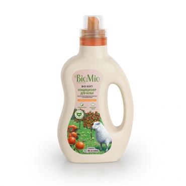 Кондиционер для белья с эфирным маслом мандарина и экстрактом хлопка BioMio, 1000 мл