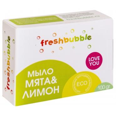 """Мыло твердое универсальное """"Мята и лимон"""" Freshbubble , 100 гh"""