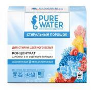 Стиральный порошок концентрат для стирки цветного белья Pure water, 800 гр