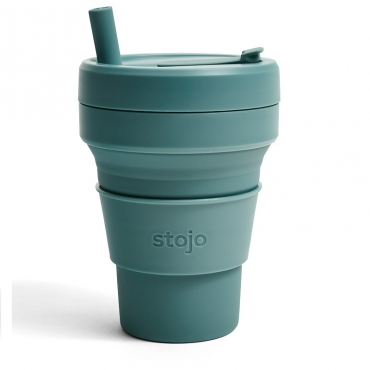 """Складной силиконовый стакан """"Эвкалипт"""" Stojo, 470 мл"""