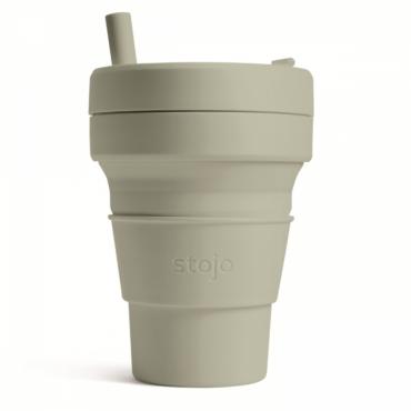 """Складной силиконовый стакан Stojo """"Шалфей"""", 355 мл"""