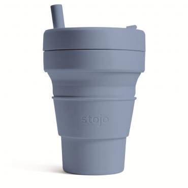 """Складной силиконовый стакан Stojo """"Сталь"""", 470 мл"""