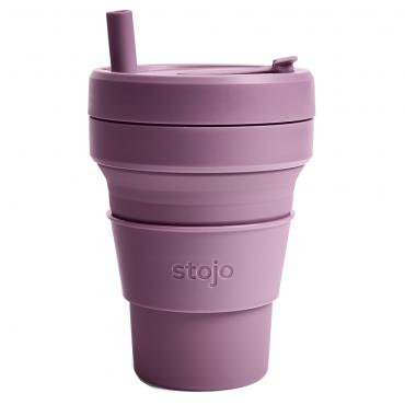 """Складной силиконовый стакан Stojo """"Слива"""", 470 мл"""