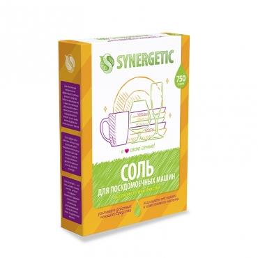 Соль высокой степени очистки для посудомоечных машин Synergetic, 750 гр