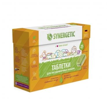 Таблетки для посудомоечных машин биоразлагаемые Synergetic, 25 шт