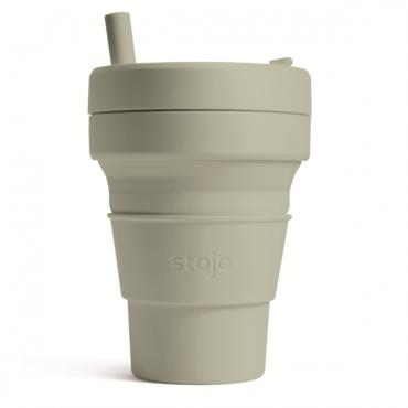 """Складной силиконовый стакан Stojo """"Шалфей"""", 470 мл"""