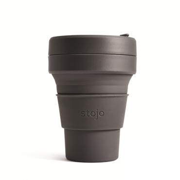"""Складной силиконовый стакан Stojo """"Уголь"""", 355 мл"""