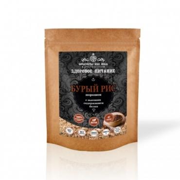 Рис бурый порошок с высоким содержанием белка Продукты XXII века,  200 гр