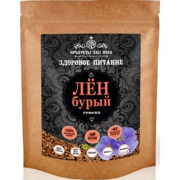 Семена бурого льна Продукты XXII века, 200 гр
