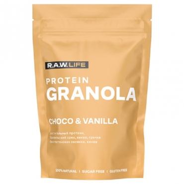 "Завтрак сухой ""Кранч гранола с протеином Шоколад-ваниль"" R.A.W. Life, 220 гр"