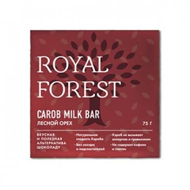 """""""Шоколад"""" из кэроба с лесным орехом Royal Forest, 75 гр"""