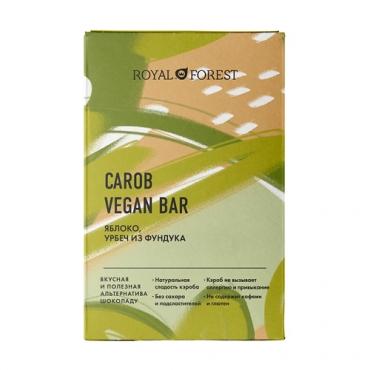 """Веганский """"шоколад"""" из кэроба с яблоком и урбечем из фундука Royal Forest, 50 гр"""