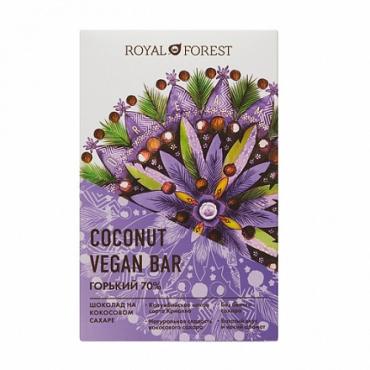 Веганский горький 70% шоколад Royal Forest, 50 гр