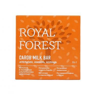 """""""Шоколад"""" из кэроба с апельсином, имбирем и корицей Royal Forest, 75 гр"""
