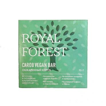 """Веганский """"шоколад"""" из обжаренного кэроба Royal Forest, 75 гр"""