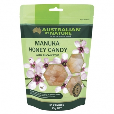 Леденцы Эквалипт и Манука мед MGO400 + от ангины и гриппа Australian by Nature, 30 шт