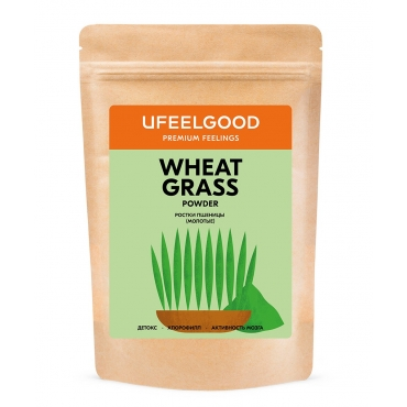 Молодые побеги пшеницы молотые (витграсс) Ufeelgood, 200 гр