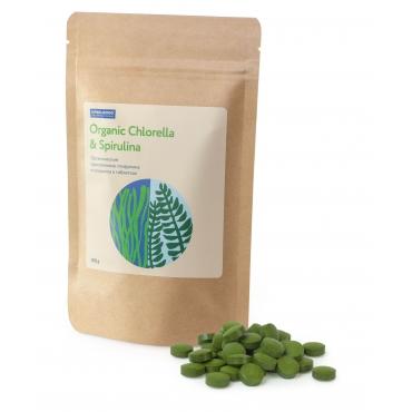Спирулина и хлорелла в таблетках пресованные Ufeelgood, 100 гр