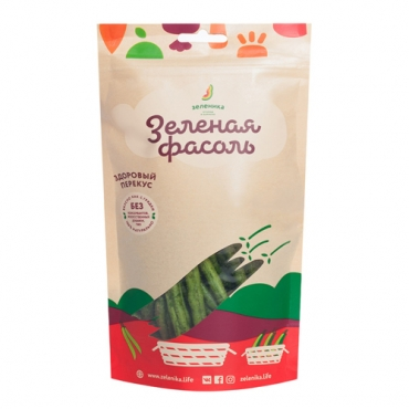 """Овощной здоровый перекус Зеленика """"Зеленая фасоль"""", 30 гр"""