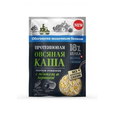 """Протеиновая каша """"Овсяная с яблоком и корицей"""" Bionova, 40 гр"""