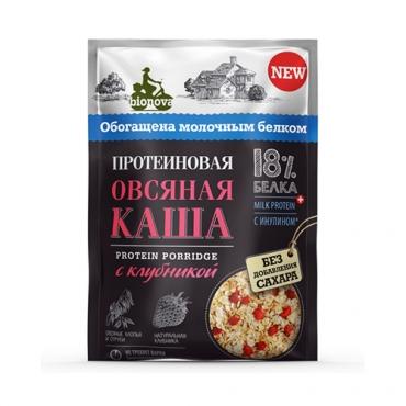 """Протеиновая каша """"Овсяная с клубникой"""" Bionova, 40 гр"""