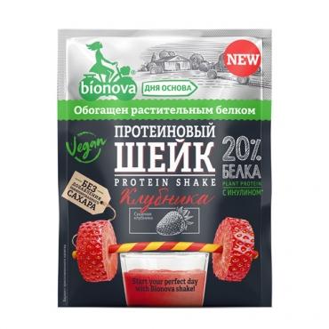 Протеиновый шейк с клубникой Bionova, 25 гр