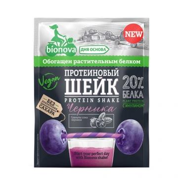 Протеиновый шейк с черникой Bionova, 25 гр