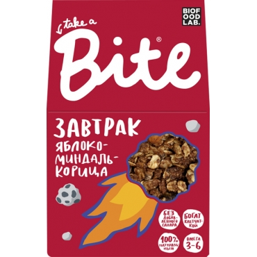 """Гранола Bite """"Яблоко-миндаль-корица"""", 270 гр"""