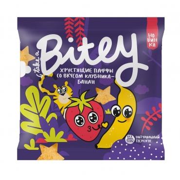 Хрустящие паффы со вкусом со вкусом «Клубника-Банан» Bitey, 20 гр