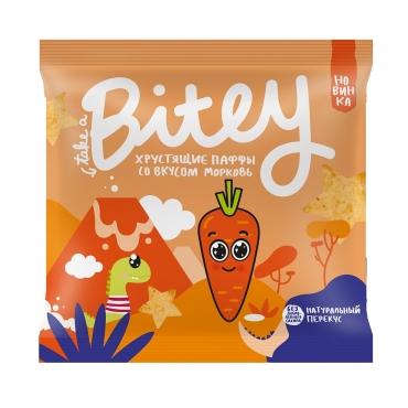 Хрустящие паффы со вкусом со вкусом «Морковь» Bitey, 20 гр