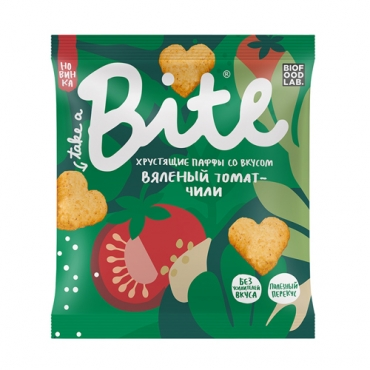 Хрустящие паффы со вкусом «Вяленый томат-чили» Bite, 30 гр
