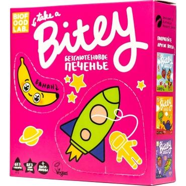 "Печенье безглютеновое Bitey ""Банан"", 125 гр"
