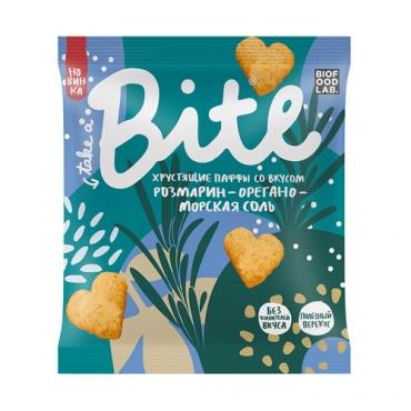 Хрустящие паффы со вкусом «Розмарин-орегано-морская соль» Bite, 30 гр